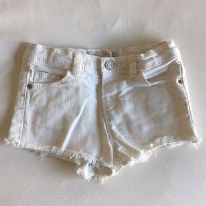 ZARA denim frayed hem shorts